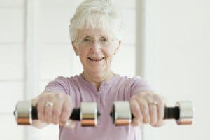 senior health and exercise at home