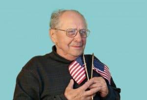 senior man on Memorial Day