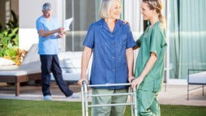 elderly care in nursing center