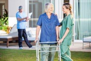 elderly care in nursing center