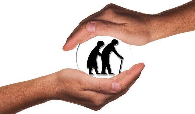 hands protecting seniors during pandemic senior care