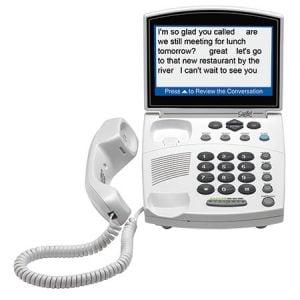 caption phones for seniors