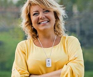 Woman Wearing Medical Guardian's Active Guardian Pendant